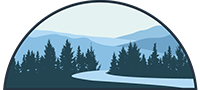 River and trees logo